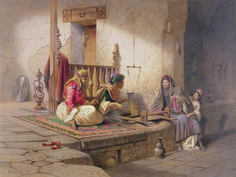 Weaver in Esna, One of 24 Illustrations Produced by G.W. Seitz, Printed c.1873 Giclee Print