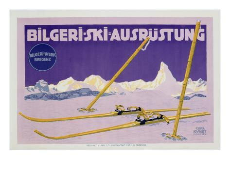 Advertisement for Skiing in Austria, C.1912 (Colour Litho) Giclee Print