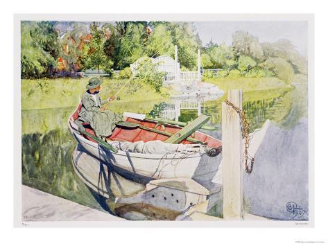 Fishing, 1909 Giclee Print