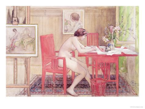 Model Writing Postcards, 1906 Giclee Print