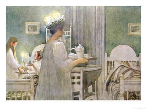 The Feast of St. Lucy on 13th December, 1916 Giclee Print