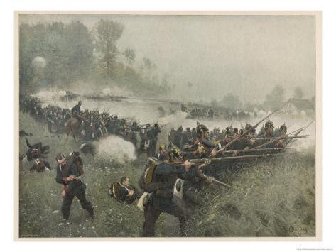 Battle of Koeniggratz Giclee Print