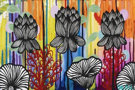 Colorful Lotus Giclee Print