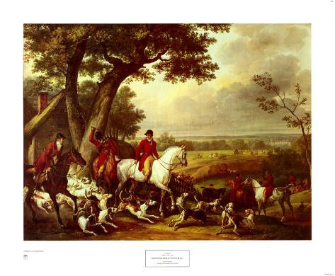 Hunt in the Park in Fountainbleau Art Print