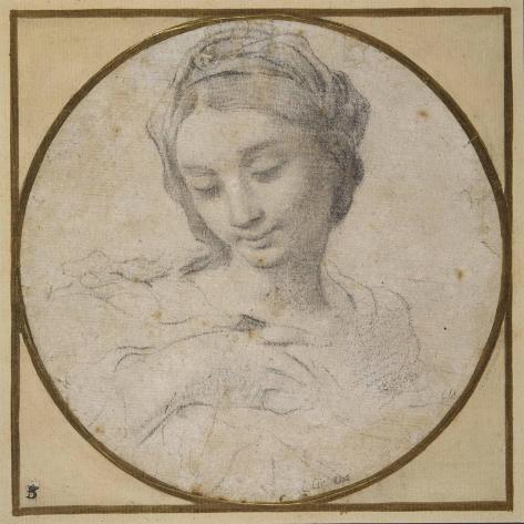 Head and Shoulders of the Virgin Lámina giclée