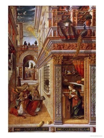The Annunciation With St Emidius 1486 Giclee Print By