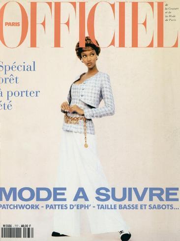 L'Officiel, February 1993 - Chanel: le Tailleur de L'Année Porté Par Tyra Art Print