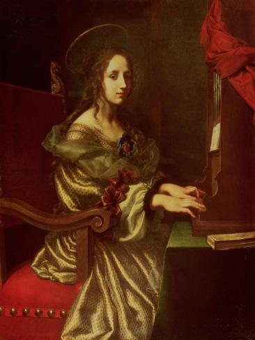 St. Cecilia (Patron of Musicians) Giclee Print
