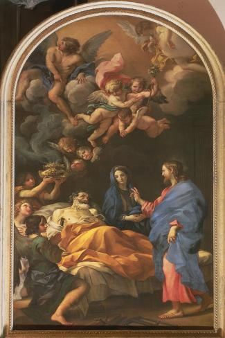 The Death of St. Joseph, 1676 Lámina giclée