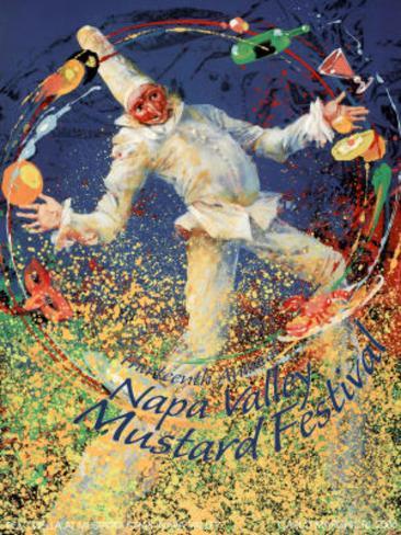 Carlo Marchiori Original 2006 Napa Valley Mustard Festival Art Print Poster Poster