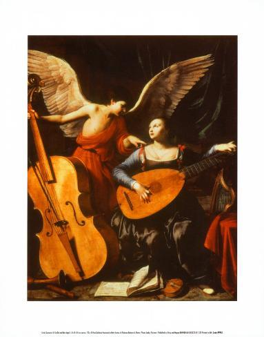 St. Cecilia and the Angel Impressão artística
