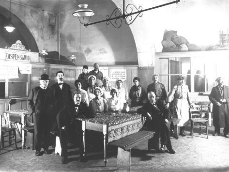 Personnel of the Soup Kitchen for the Poor Photographic Print