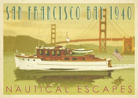 Nautical Escapes 5 Stretched Canvas Print