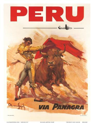 Panagra Pan American-Grace Airways: Peru, c.1946 Art Print