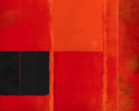Square Twilight Crescent Stretched Canvas Print