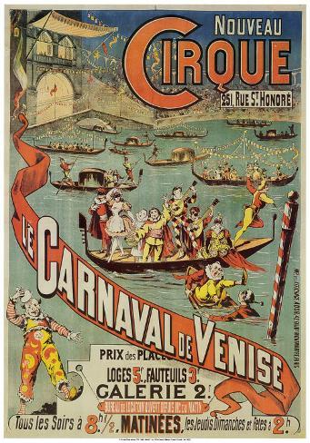 carnaval de venise print at