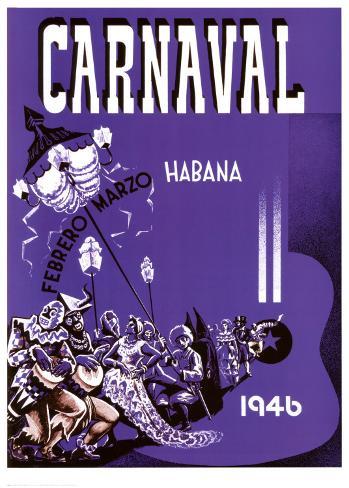 Carnaval, Habana, 1946 Art Print
