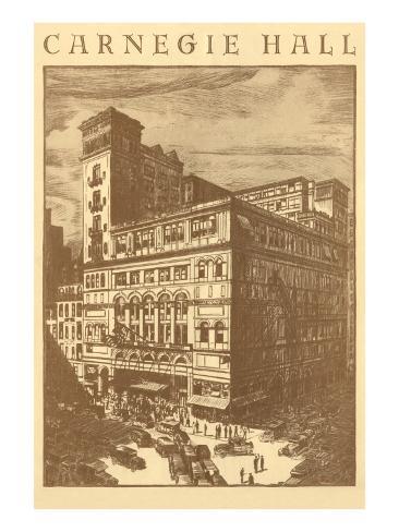 Carnegie Hall, New York City Art Print