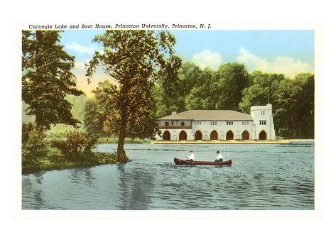 Carnegie Lake, Princeton University, New Jersey Art Print