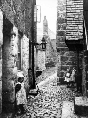 Carnglaze Place, St Ives, C.1900 Photographic Print