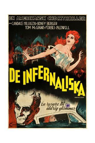Carnival of Souls, (aka De Infernaliska), Swedish Poster Art, Candace Hilligoss, 1962 Giclee Print