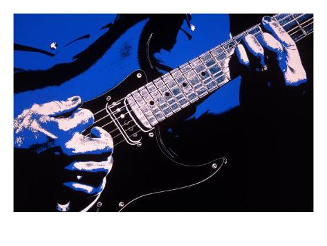 Close-up of Electric Guitar Player Giclee Print