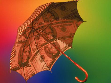 Financial Umbrella Photographic Print