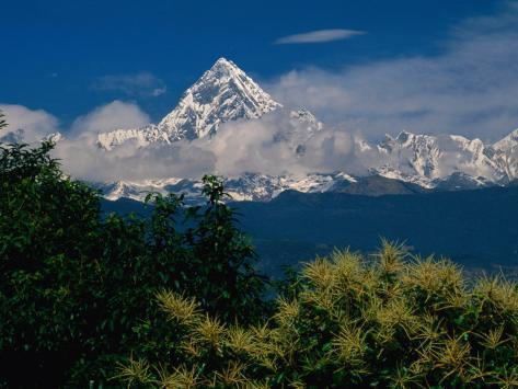 Mt. Machupuchare in the Annapurnas Range, Machhapuchhare, Gandaki, Nepal Photographic Print