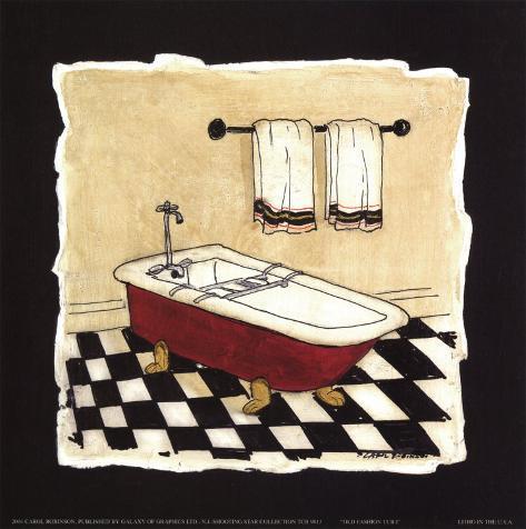 Antica vasca da bagno I Poster di Carol Robinson su AllPosters.it