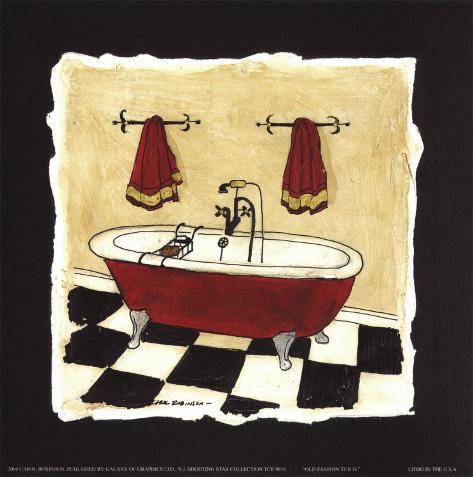 Antica vasca da bagno iv stampe di carol robinson su - Vasca da bagno antica ...