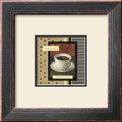 Drinking Hazelnut Coffee Framed Art Print
