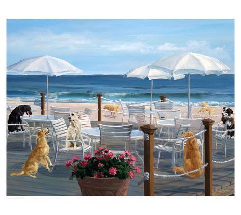 Beach Club Tails Art Print