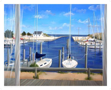 Window on Deon Harbor Art Print