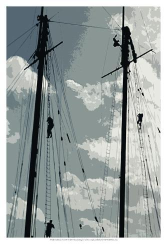 Caribbean Vessel IV Art Print