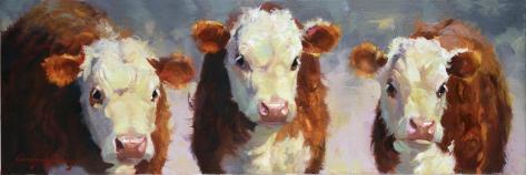 Winter Calves Art Print