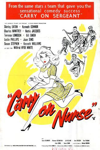 Carry on Nurse Art Print
