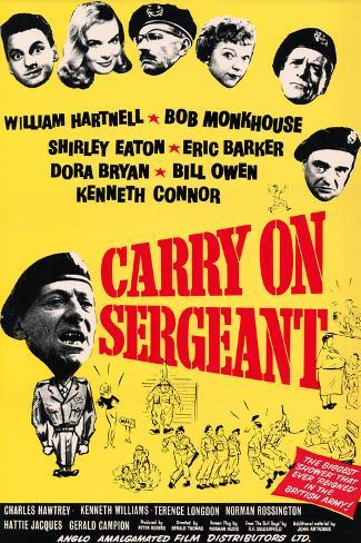 Carry on Sergeant Art Print