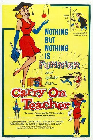 Carry on Teacher Art Print