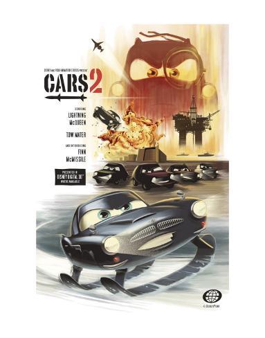Cars 2: Introducing Finn McMissile Art Print
