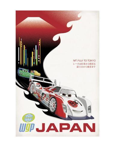 Cars 2: Japan Art Print