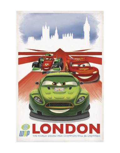 Cars 2: London Art Print