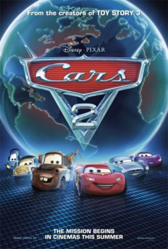 Cars 2 (Owen Wilson, Michael Caine, Emily Mortimer) Movie Poster Poster double face