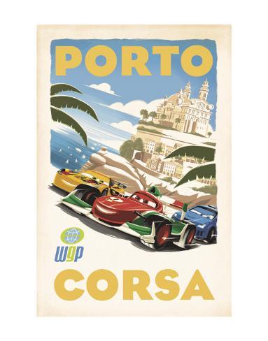 Cars 2: Porto Corsa Konstprint