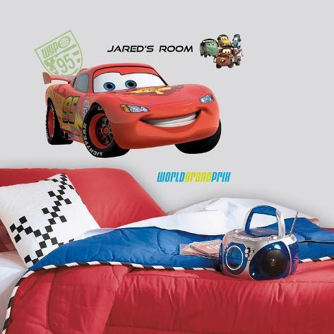 Cars 2 - Saetta gigante con PZ (sticker murale) Decalcomania da muro