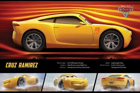 Cars 3 - (Cruz Rameriz Stats) Póster