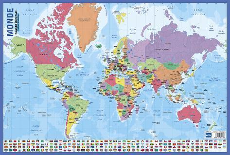 Carte du monde print - Poster carte du monde ikea ...