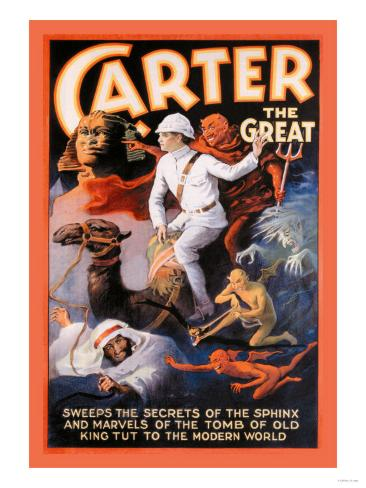 Carter the Great: Secrets of the Sphinx Art Print