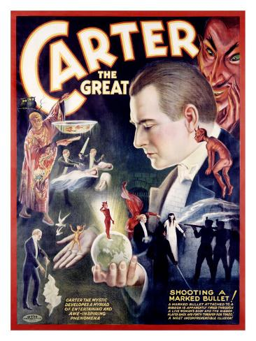Carter the Great, Shooting a Marked Bullet Giclee Print