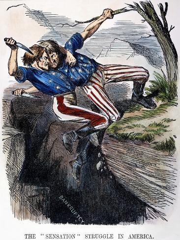 Cartoon: Civil War, 1862 Stretched Canvas Print