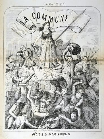 Cartoon Dedicated to the National Guard, Paris Commune, 1871 Giclee Print